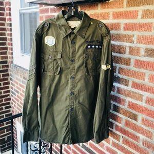 PJ Mark Vintage Combat style Button Down